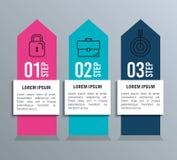 Estadísticas de Infographic con los elementos del negocio Foto de archivo libre de regalías