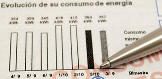 Estadísticas de la pluma y de la consumición Foto de archivo libre de regalías