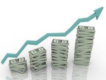 Estadísticas del dólar Imagen de archivo libre de regalías