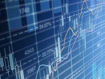 Estadísticas del mercado de acción Imagen de archivo