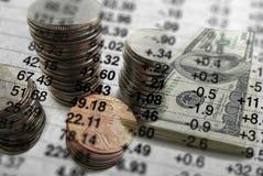 Estadísticas para invertir del dinero fotos de archivo