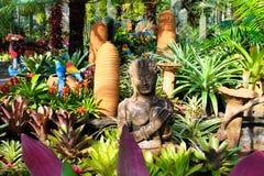 Estada bonita, orquídeas do parque, Tailândia Fotos de Stock Royalty Free