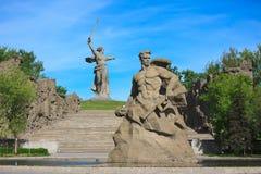 Estada do monumento à morte em Mamaev Kurgan, Volgograd Imagem de Stock Royalty Free