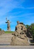 Estada do monumento à morte em Mamaev Kurgan, Volgograd imagem de stock