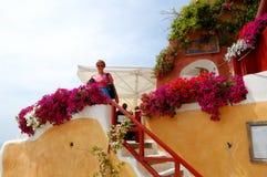 Estada nos Cyclades Greece Foto de Stock Royalty Free