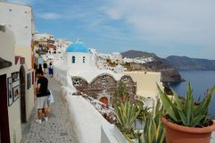Estada nos Cyclades Greece Foto de Stock