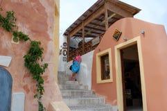 Estada nos Cyclades Greece Imagens de Stock