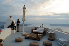 Estada nos Cyclades Greece Fotos de Stock Royalty Free