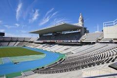 Estadi Olimpic Lluis Companys (Barcelona Olympic Stadium) på Maj 10, 2010 i Barcelona, Spanien Royaltyfria Bilder