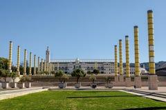 Estadi Olimpic Lluis Companys in Barcelona, Spain Stock Images
