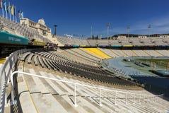 Estadi Olimpic Lluis Companys in Barcelona, Spanje stock foto's
