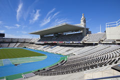 Estadi Olimpic Lluis firmy na Maju 10, 2010 w Barcelona, Hiszpania (Barcelona Olimpijski stadium) Obrazy Royalty Free