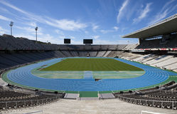 Estadi Olimpic Lluis firmy na Maju 10, 2010 w Barcelona, Hiszpania (Barcelona Olimpijski stadium) Obraz Royalty Free