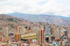 Estadio埃尔南多西莱斯-体育体育场在拉巴斯,玻利维亚 免版税库存照片