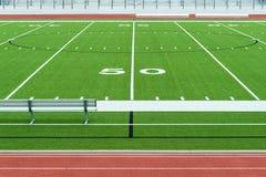 Estadio americano del campo de f?tbol imagen de archivo