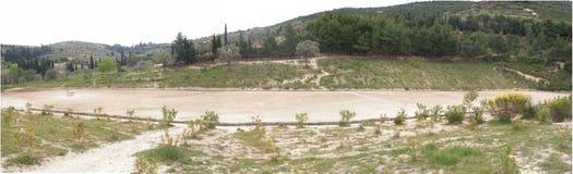 Estadio antiguo en Nemea Foto de archivo libre de regalías