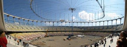 Estadio bajo construcción Fotos de archivo libres de regalías