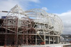 Estadio bajo construcción Fotografía de archivo libre de regalías
