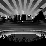 Estadio con Rio Skyline On The Horizon Imágenes de archivo libres de regalías