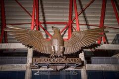 Estadio da Luz, S的家庭体育场的外部 L 本菲卡队 它在欧洲2004年被修造了 免版税图库摄影