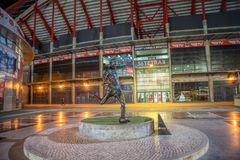 Estadio da Luz, S的家庭体育场的外部 L 本菲卡队 它在欧洲2004年被修造了 免版税库存照片