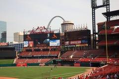 Estadio de Busch - cardenales de St. Louis Imagen de archivo libre de regalías