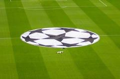 Estadio de Camp Nou ante liga de los campeones imagen de archivo libre de regalías