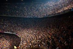 Estadio de Camp Nou después del partido contra Osasuna Imagen de archivo libre de regalías