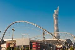 Estadio de Doha Khalifa Fotografía de archivo libre de regalías