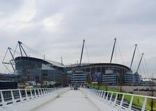 Estadio de Etihad - arena de Manchester City Imágenes de archivo libres de regalías