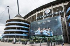 Estadio de Etihad del club del fútbol de Manchester City foto de archivo libre de regalías