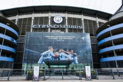 Estadio de Etihad de Manchester City imagen de archivo libre de regalías
