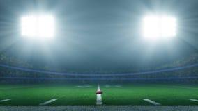 Estadio de fútbol americano fotos de archivo libres de regalías
