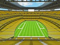 Estadio de fútbol americano moderno con los asientos amarillos Imágenes de archivo libres de regalías