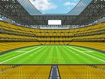 Estadio de fútbol americano moderno con los asientos amarillos Fotos de archivo