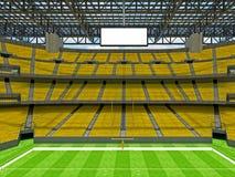 Estadio de fútbol americano moderno con los asientos amarillos Imagenes de archivo