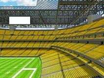 Estadio de fútbol americano moderno con los asientos amarillos Fotos de archivo libres de regalías