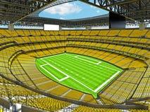 Estadio de fútbol americano moderno con los asientos amarillos Foto de archivo libre de regalías