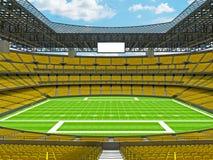 Estadio de fútbol americano moderno con los asientos amarillos Fotografía de archivo libre de regalías