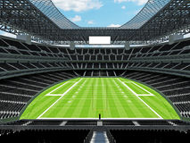 Estadio de fútbol americano moderno con los asientos negros Fotografía de archivo