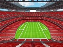 Estadio de fútbol americano moderno con los asientos rojos Fotos de archivo