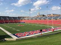 Estadio de fútbol Dallas de la universidad de methodist meridional fotos de archivo libres de regalías