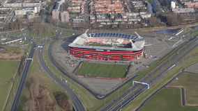 Estadio de fútbol de AFAS para AZ Alkmaar Fotografía de archivo