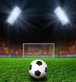 Estadio de fútbol de la noche Imagen de archivo