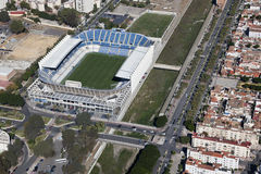 Estadio de fútbol de Málaga, rosaleda del La. Fotos de archivo libres de regalías