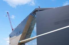 Estadio de fútbol de Minneapolis bajo construcción Imágenes de archivo libres de regalías