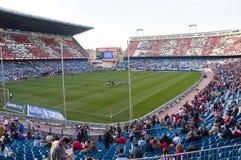 Estadio de fútbol de Vicente Calderon, Madrid, España Foto de archivo libre de regalías