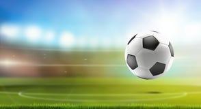 Estadio de fútbol del balón de fútbol 3d-illustration ilustración del vector