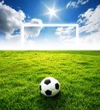 Estadio de fútbol del campo de fútbol Imágenes de archivo libres de regalías