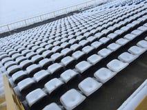 Estadio de fútbol del invierno imagen de archivo libre de regalías